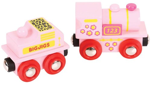 Bigjigs Pink 123 Engine