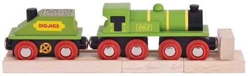 Bigjigs Big Green Engine + Coal Tender