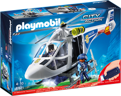Playmobil City Action - Politiehelikopter met LED-zoeklicht  6921