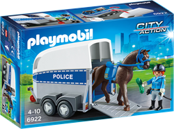 Playmobil  City Action Bereden politie met trailer 6922