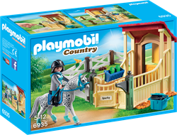 Playmobil country appaloosa met paardenbox 6935
