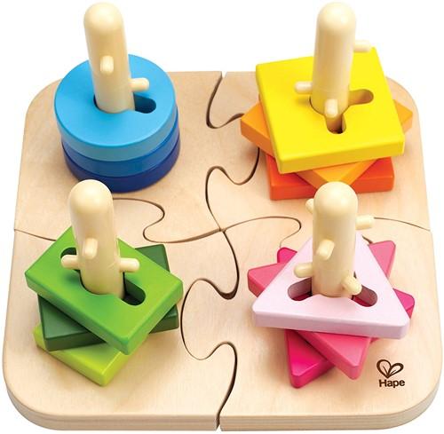 Hape houten vormenpuzzel Creative Peg Puzzle