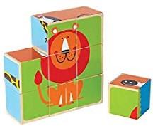 Hape houten blokpuzzel Dierentuin