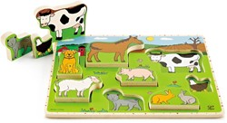Hape houten legpuzzel Farm Animals Stand Up Puzzle