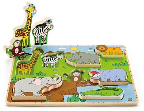 Hape houten legpuzzel Wild Animals Stand Up Puzzle
