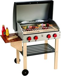 Hape houten keuken Gourmet Grill (with food)