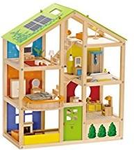 Hape houten poppenhuis All Season House - Met Meubels