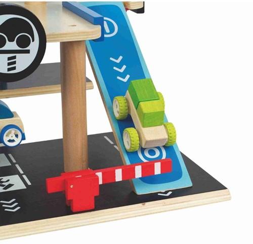 Hape houten speelstad gebouw Parkeergarage-3