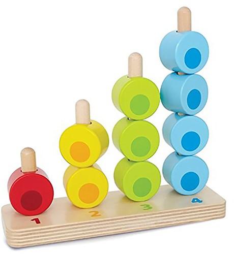 Hape Stapelspel tellen en kleuren