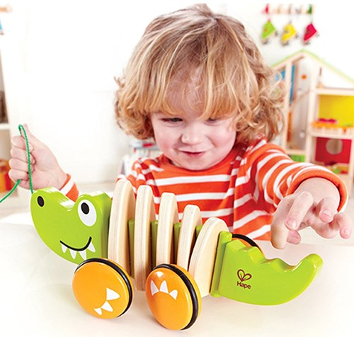 Hape trekfiguur Walk-A-Long Crocodile-3