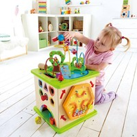 Hape houten leerspel Country Critters Play Cube-3