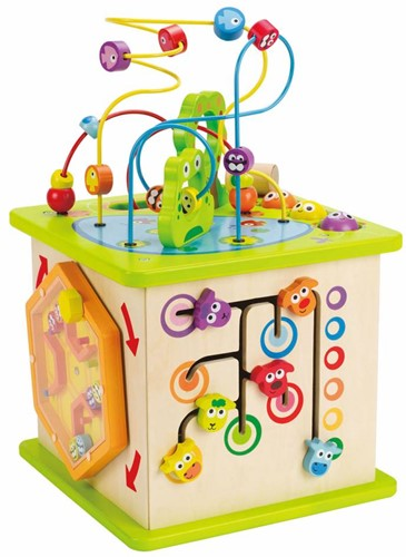 Hape houten leerspel Country Critters Play Cube-1