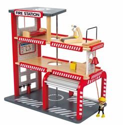Hape houten speelstad gebouw Fire station