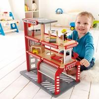 Hape houten speelstad gebouw Fire station-2