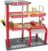 Hape houten speelstad gebouw Brandweerkazerne-3