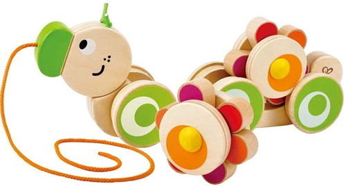 Hape trekfiguur Walk-A-Long Caterpillar-2
