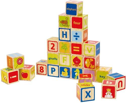 Hape houten bouwblokken ABC Blocks-1