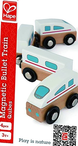 Hape speelset Magnetic Bullet Train-2