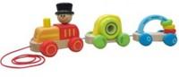 Hape trekfiguur Triple Play Train-1