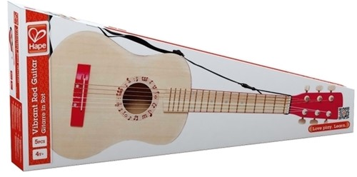 Hape Muziekinstrument Vibrant Red Guitar-2