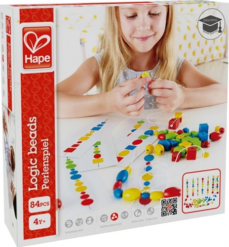 Hape rijgspel Logic Beads-1