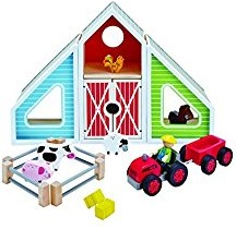 Hape houten speelstad Barn Play