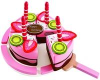 Hape houten keuken accessoires Double Flavored Birthday Cake-2