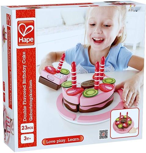 Hape houten keuken accessoires Double Flavored Birthday Cake-3