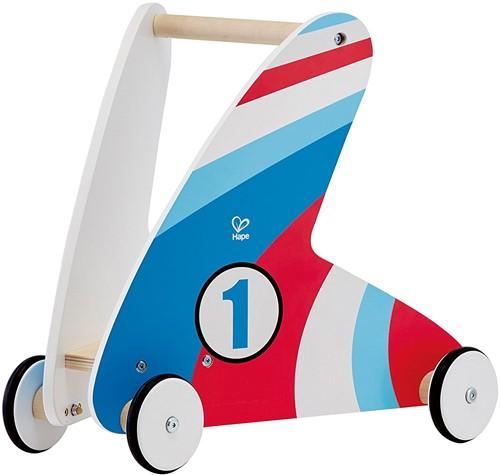 Hape houten loopwagen Step & Stroll, Racing Stripes