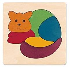 Hape houten legpuzzel Rainbow Cat