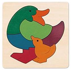 Hape houten legpuzzel Rainbow Duck