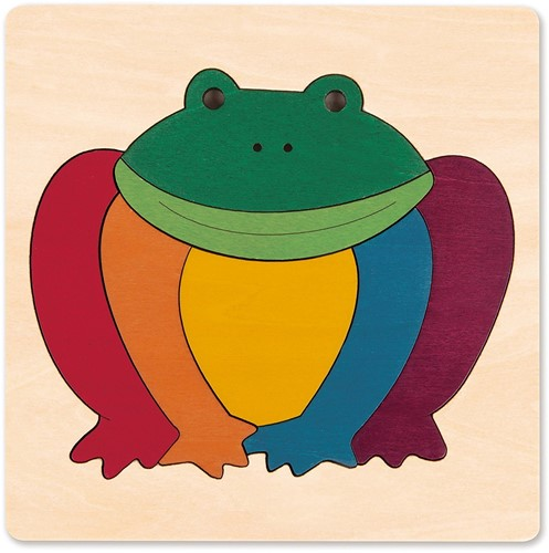 Hape houten legpuzzel Rainbow Frog
