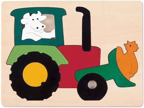 Hape houten legpuzzel Tractor