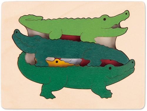 Hape Lagenpuzzel Krokodillen - 5 stukjes