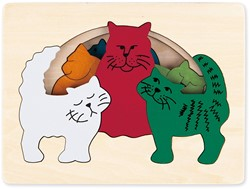 Hape houten legpuzzel Cats