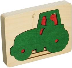 Hape houten legpuzzel Five tractors