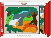 Hape houten legpuzzel Asian animals-1