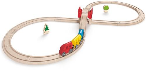 Hape houten trein set Figure Eight Railway Set