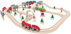 Hape houten trein set High & Low Railway Set