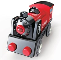 Hape houten trein Battery Powered Engine No.1-2