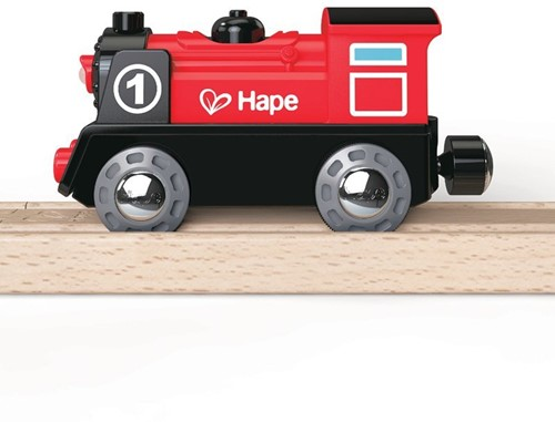 Hape houten trein Battery Powered Engine No.1-3
