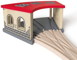 Hape houten trein Big Engine Shed