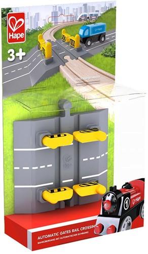 Hape houten trein Automatic Gates Rail Crossing-2