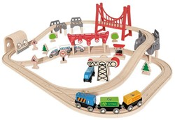 Hape houten trein set Double Loop Railway Set