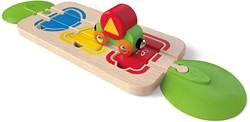 Hape houten trein Color & Shape Sorting Track