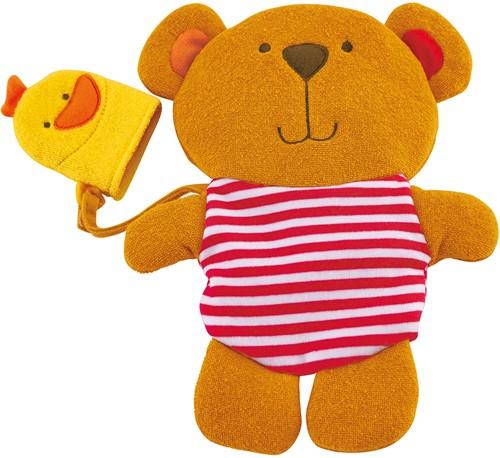 Hape Badspeelgoed Teddy and Duck Bath Mitt Set