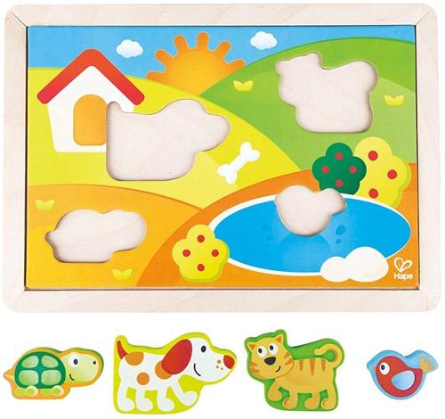 Hape vormenpuzzel Sunny Valley Puzzle 3 in 1