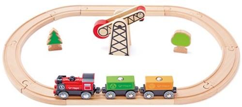 Hape houten trein set Battery Powered Engine Set