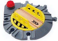 Hape houten trein Adjustable Rail Turntable-1