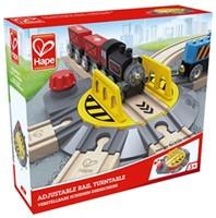 Hape houten trein Adjustable Rail Turntable